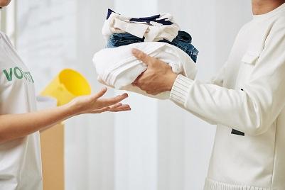 Clothes donation concept